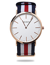 cheap -Men's Wrist watch Quartz Casual Watch Fabric Band Stripes Black Blue Red Green