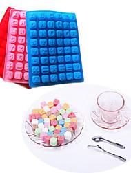 48 carta bandeja de cubos de panificação molde de bolo de chocolate alfabeto silicone (cor aleatória)