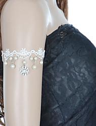 mode blonder indlæg diamant blomst perle armbånd elegant stil