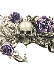 economico -Tatuaggi adesivi - Serie totem/Altro Da donna/Da uomo/Adulto/Teen - 1 pc - Modello - di Carta - 21*14.5cm(8.3*5.7in) - Grigio/Nero -Non