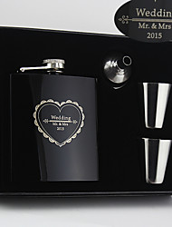 cheap -Stainless Steel Hip Flasks Bride Groom Bridesmaid Groomsman Congratulations Thank You