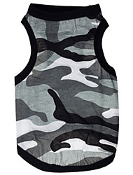 cheap -Cat Dog Shirt / T-Shirt Dog Clothes Camouflage Gray Cotton Costume For Pets Men's Women's Casual/Daily