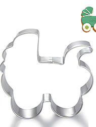 cheap -Baby Carriage Stroller Shape Cookie Cutters Fruit Cut Molds Stainless Steel