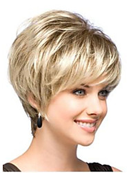 cheap -perfect classic short blonde fashion lady synthetic hair wig with dark tail free shipping
