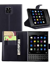abordables -Funda Para Blackberry Funda Blackberry Cartera / Soporte de Coche / con Soporte Funda de Cuerpo Entero Un Color Dura Cuero de PU para