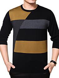 povoljno -Veći konfekcijski brojevi Majica Muškarci Prugasti uzorak Karirani uzorak