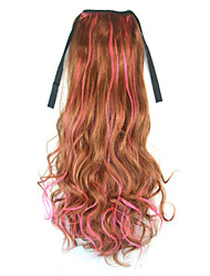 cheap -Micro Ring Hair Extensions Synthetic Hair Hair Piece Hair Extension Wavy