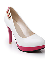 Girls' Shoes Casual Heels/Round Toe  Pumps/Heels Black/Pink/White/Beige Gifts (insoles, laces, shoe, socks, color stone