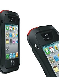 cheap -LOVEMEI Powerful Aluminum Bumper Outdoor Gear Armor Waterproof Hard Case for iPhone 4/4S