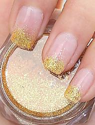 Golden Glitter Powder Nail Art Decorations