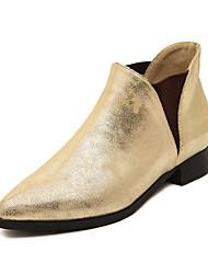 baratos -Mulheres Sapatos Courino Inverno Sem Salto Prata / Dourado