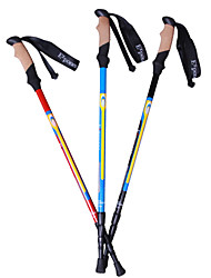 cheap -KORAMAN Outdoor Carbon Retractable 3-Section Ultralight Walking Pole Hiking pole 1-pc