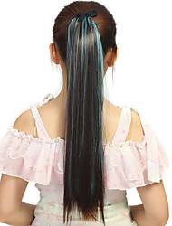 Недорогие -Прямой силуэт синтетика Волосы Наращивание волос 18 дюйм Радужный