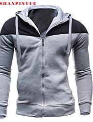 Sets Activewear Pour des hommes Manches longues Décontracté/Travail/Sport Couleur plaine Mélange de Coton