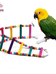 FUN OF PETS®70cm Colorful Climbing Ladders with Beads  for Birds(Random Color)