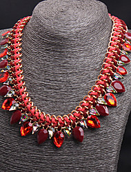 Women's Statement Necklaces Drop Gemstone Alloy Costume Jewelry Jewelry For