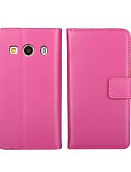 economico -Custodia Per Samsung Galaxy Samsung Galaxy Custodia A portafoglio / Porta-carte di credito / Con supporto Integrale Tinta unita pelle sintetica per Ace 4