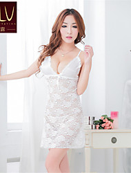 cheap -SKLV Women's Lace/Organza Robes/Ultra Sexy/Suits Cut Out Nightwear/Lingerie