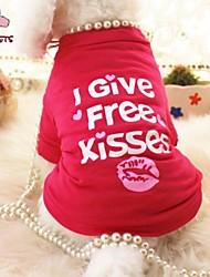 Kat Hund T-shirt Hundetøj Cosplay Bryllup Bogstav & Nummer Hjerter Rose Kostume For kæledyr