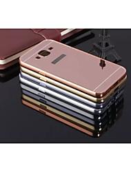 preiswerte -Hülle Für Samsung Galaxy Samsung Galaxy Hülle Stoßresistent / Beschichtung / Spiegel Rückseite Solide Metal für J7