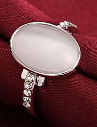 Anneaux Zircon Plaqué argent 18K or Bijoux de Luxe Argent Rouge Rose Doré Bijoux Soirée Quotidien Décontracté 1pc