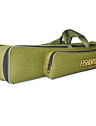 Fishdrops Fishing Bag, Fishing Accessories, 16.8L Big Capacity Water Proof Navy Green Canvas Bag 80cm* 15cm* 14cm