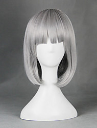 Cosplay Wigs Cosplay Cosplay Gray Medium Anime Cosplay Wigs 55 CM Heat Resistant Fiber Male / Female