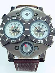 JUBAOLI Pánské Náramkové hodinky Křemenný Kalendář Kůže Kapela Černá Modrá Červená Orange Hnědá žlutá