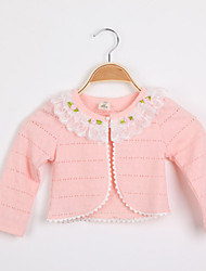 cheap -Girls' Sweater & Cardigan Spring Fall Long Sleeves White Pink