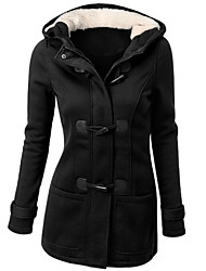 cheap -Women's Coat - Solid, Basic