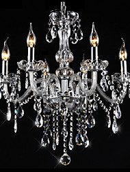 cheap -Chandelier ,  Traditional/Classic Vintage Electroplated Feature for Crystal CrystalLiving Room Bedroom Dining Room Kitchen Study