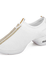 "cheap -Women's Dance Sneakers Synthetic Sneaker Outdoor Low Heel Black White Pink 1"" - 1 3/4"" Non Customizable"
