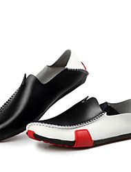 Masculino sapatos Couro Primavera Verão Outono Inverno Conforto Mocassins e Slip-Ons Para Casual Preto Azul Real