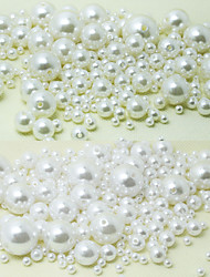 Beadia 58g(Approx 2000Pcs)  ABS Pearl Beads 4mm Round White & Ivory Color Plastic Loose Beads DIY Jewelry Accessories