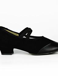 billige -Dansesko(Sort Rød) -Kan ikke tilpasses-Flade hæle-Damer-Moderne Optræden Øvesko