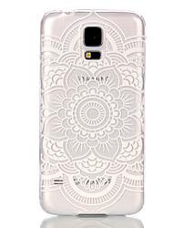 preiswerte -Hülle Für Samsung Galaxy Samsung Galaxy Hülle Transparent Rückseite Mandala PC für S6 edge / S6 / S5 Mini