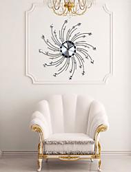 cheap -Modern Personality Iron Diamond Design Wall Clock