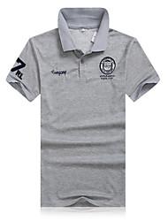 preiswerte -Herrn Solide Schick & Modern Alltag Sport Formal Arbeit Übergrössen Polo, V-Ausschnitt Kurzarm Baumwolle Polyester