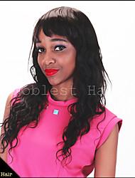 Недорогие -7а длинные парики естественная волна девственные индийский ни шнурка человеческих волос парики для чернокожих женщин естественный цвет