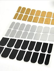 cheap -48pcs Manicure Sticker Decal Gold Silver Black Metal Sticking