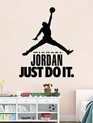 cheap -Cartoon Romance Fashion Shapes People Sports Wall Stickers Plane Wall Stickers Decorative Wall Stickers,Vinyl Home Decoration Wall Decal