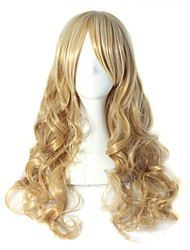 Cinderella Golden Wave Blonde Long Wave Syntheic Wig High Quality