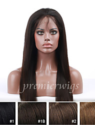 cheap -Human Hair Full Lace / Lace Front Wig Body Wave Wig 130% Natural Hairline / African American Wig / 100% Hand Tied Women's Medium Length / Long Human Hair Lace Wig