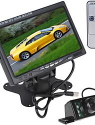Недорогие -7-дюймовый 800 х 480 Цвет Просмотр ЖК-экран сзади автомобиля монитор с HDMI + 7 ИК-подсветки заднего вида автомобиля камеры