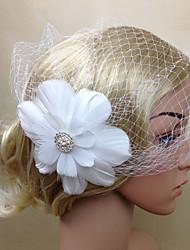 baratos -Mulheres Penas Rede Capacete-Casamento Ocasião Especial Fascinador Flores Véus de Rede 1 Peça