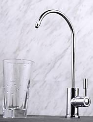 Недорогие -смеситель для кухни - одно отверстие, хром / высокий, высокий уровень дуги, современный / с одной ручкой, одно отверстие