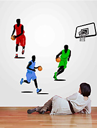 Wall Stickers væg decals stil sport basketball nba pvc wall stickers