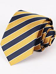 Fête des hommes / soirée cravate à rayures jaune et bleu marine # pt065
