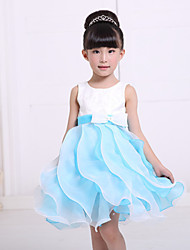 cheap -Girl's Cotton/Polyester Sweet Leisure  Petal Sleeveless Princess Dress