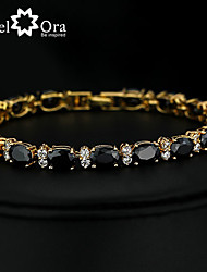 cheap -Chain Bracelet Bracelet Vintage Cute Party Work Casual Fashion Link/Chain Cubic Zirconia Gold Plated Jewelry Special Occasion Birthday